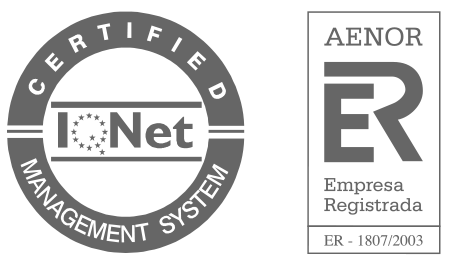 Certified Iqnet . Aenor